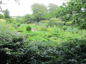 The formal herb garden.