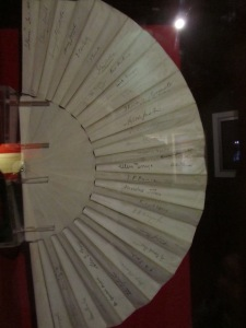 Lady Gregory's autographed fan.
