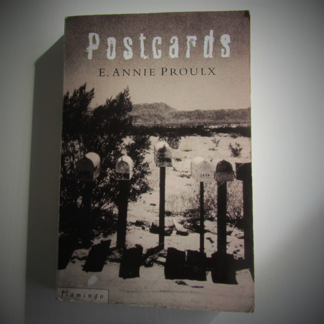 Postcards. E. Annie Proulx. Book review. Survive. Suicide.