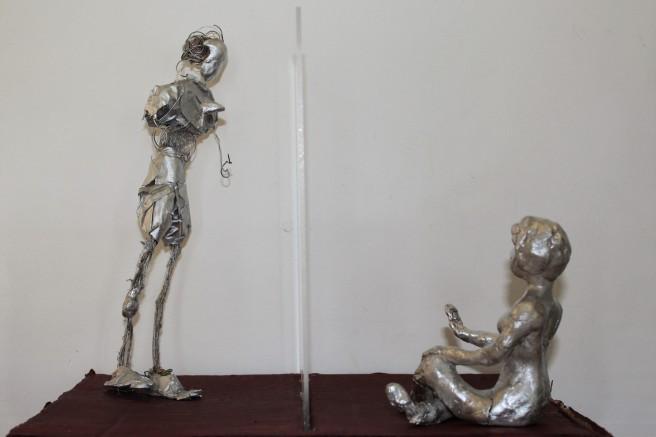Man V machine. art , sculpture, robot, AI, artificial intelligence,