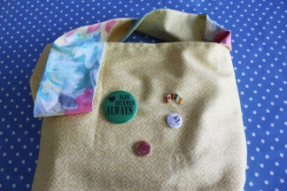 great British sewing bee, alan rickman, always, book tote tutorial,
