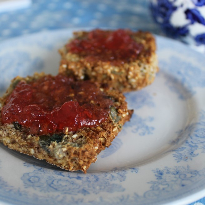 wholemeal scone with wild jelly.