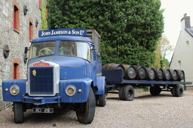 vintage delivery truck at the Jameson Distillery.