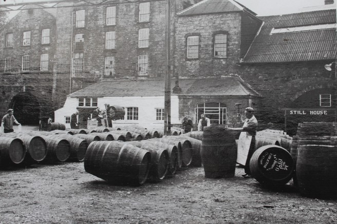vintage photo of Jameson distillery.