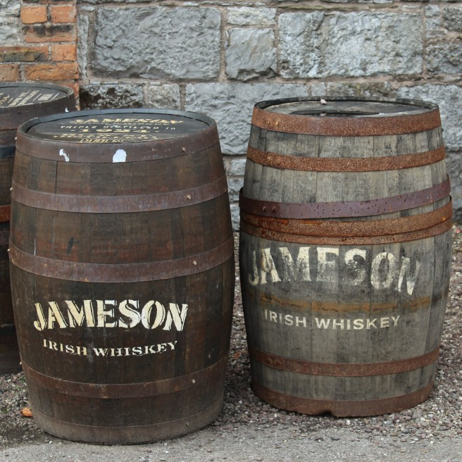 casks at the Jameson distillery.