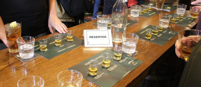 whiskey tasting at the Jameson distillery.
