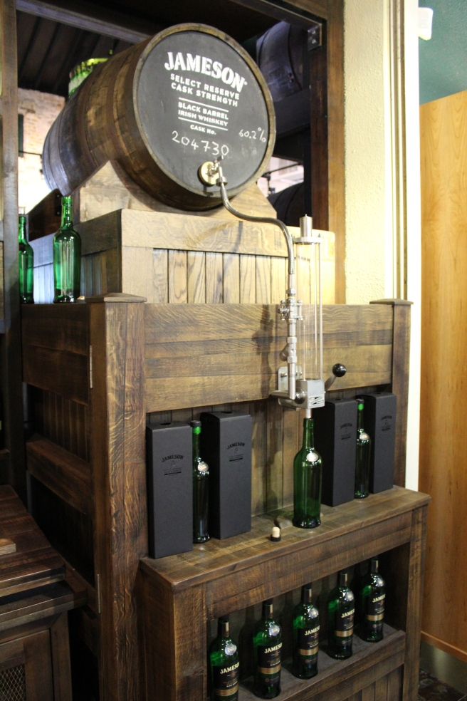 Fill your own bottle at the Jameson distillery.