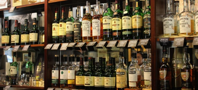 The bar at the Jameson distillery.