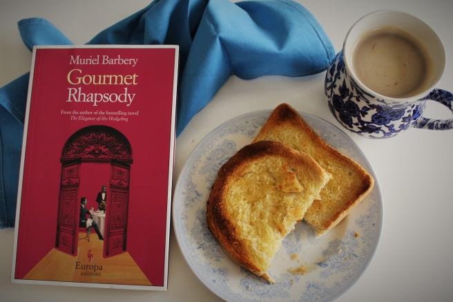 Muriel Barbery. Gourmet Rhapsody. toast.