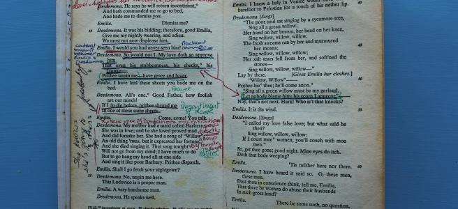 Othello, text.