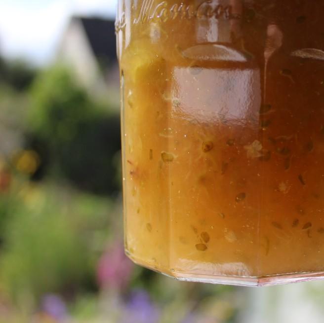 Elderflower and gooseberry jam.