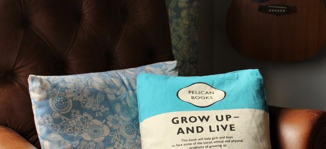 Pelican book tote/ cushion conversion.
